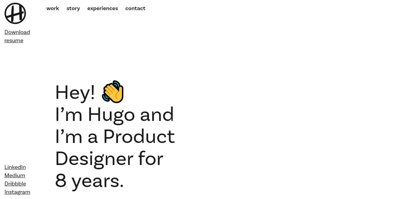 Website of a product designer.