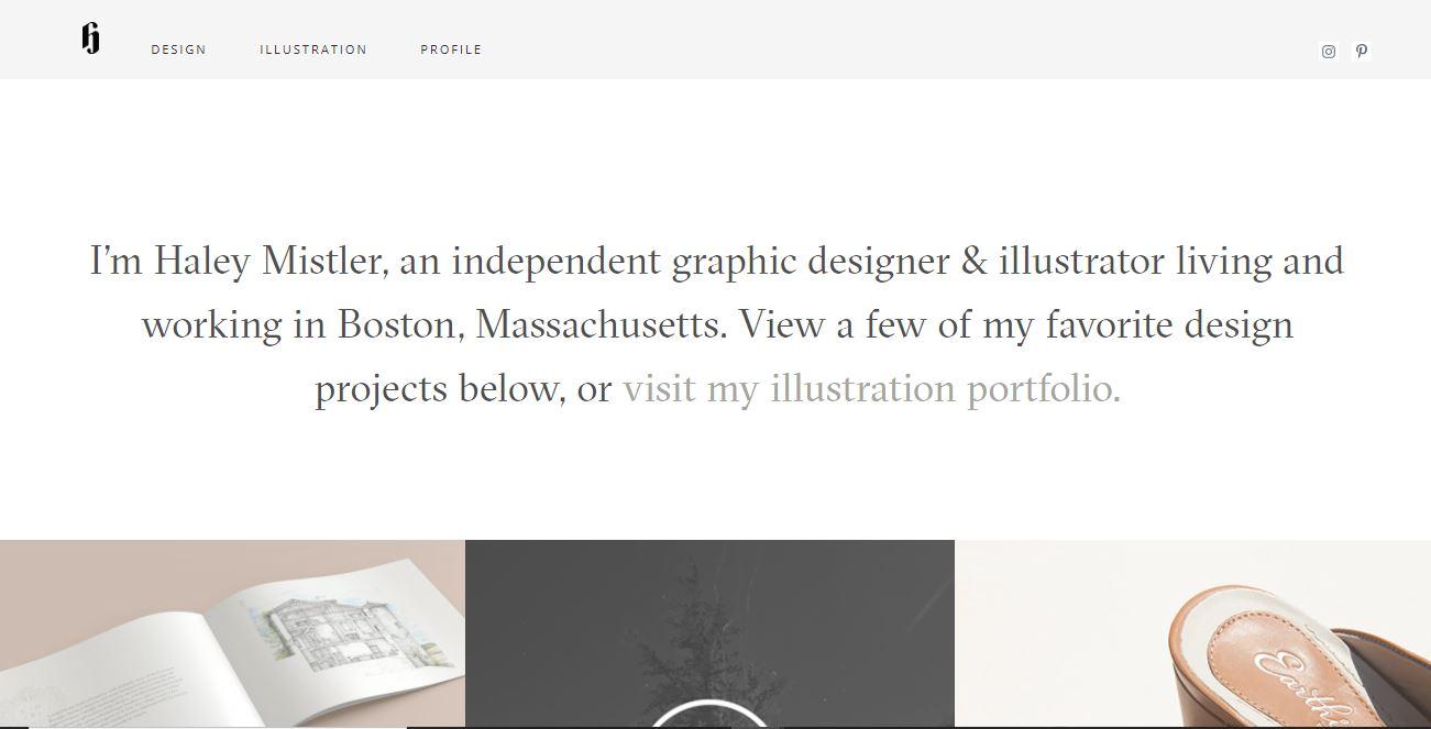 A minimalist website with illustration portfolio.