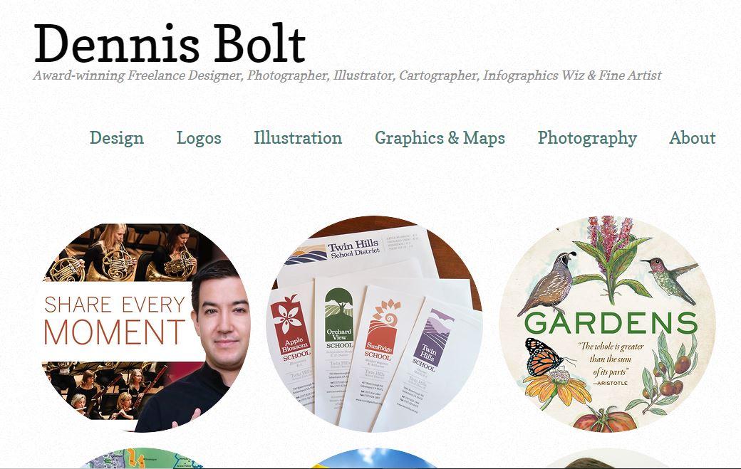 Freelance designer's website.