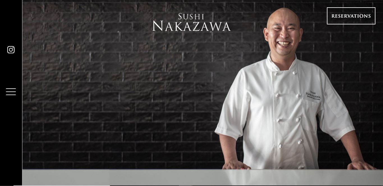 Главная страница ресторана Nakazawa