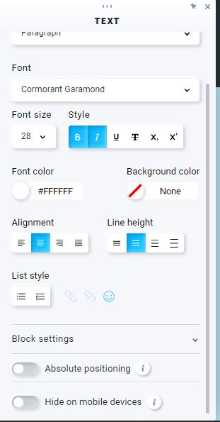 Further customizing a website.