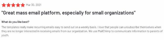Klaviyo alternative review - Mailchimp.