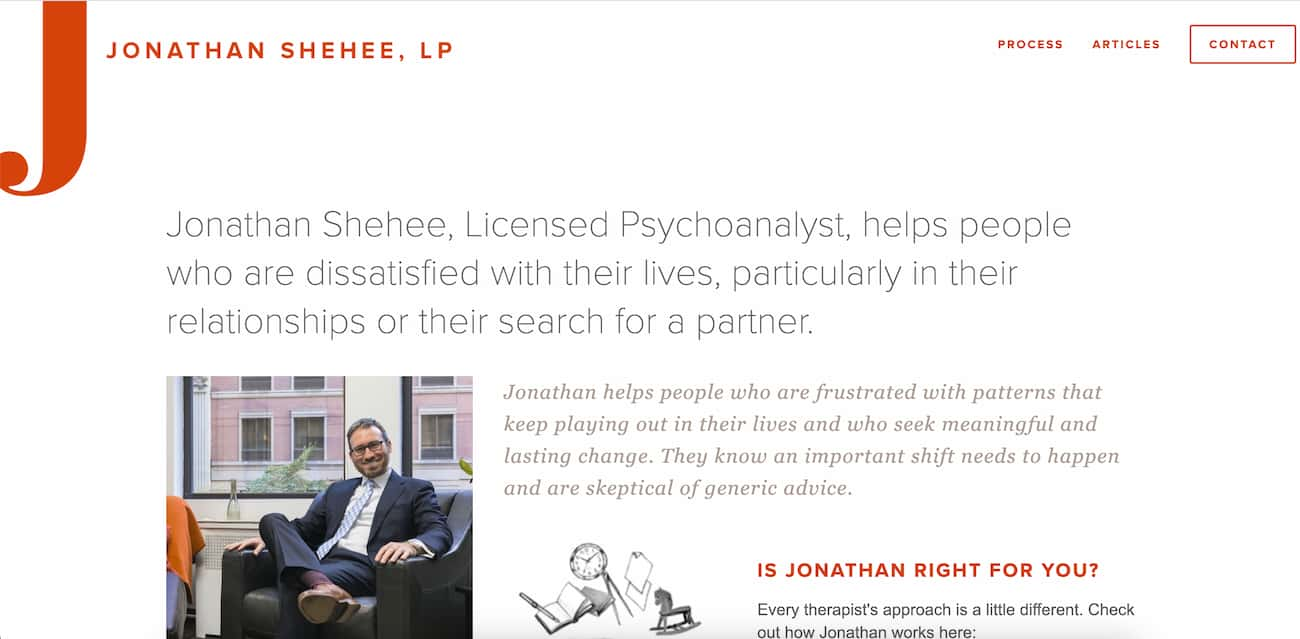 Private practice website from Jonathan Shehee, LP.