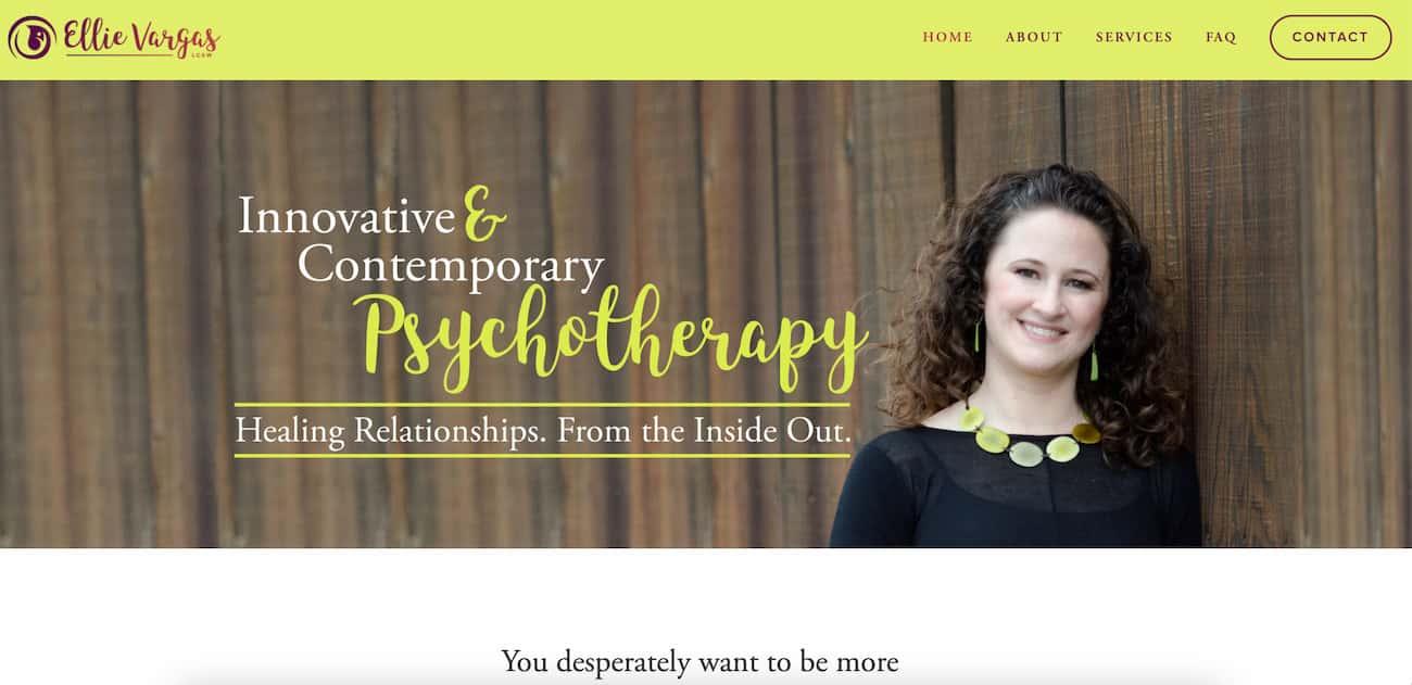 Ellie Vergas Therapy website.