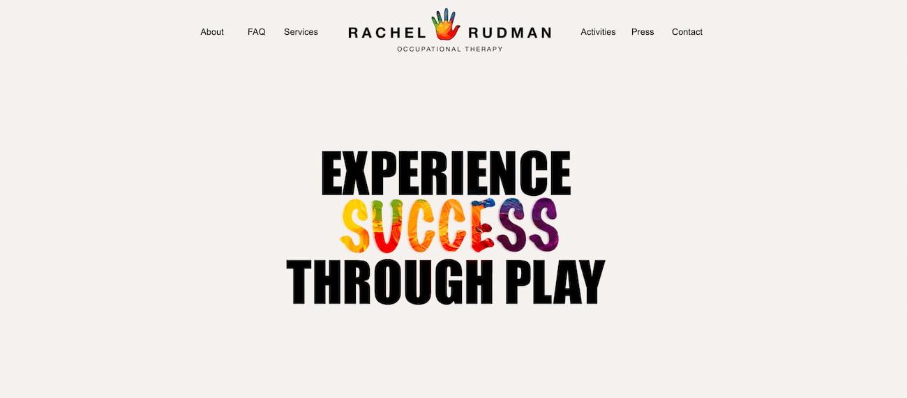 Rachel Rudman private practice website.