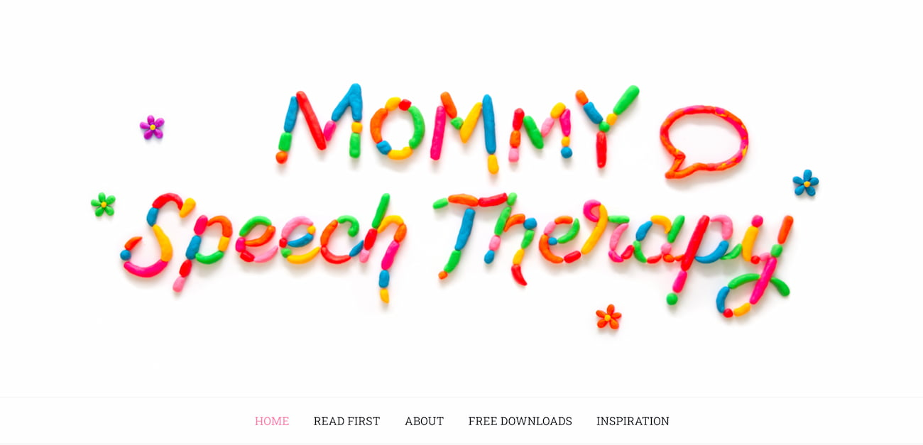 Mommy Speech Therapy homepage.