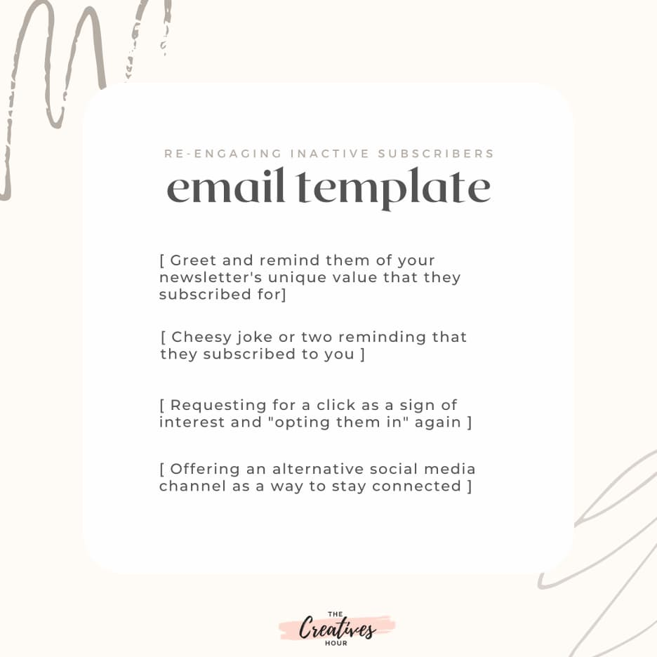 Reengagement email template.