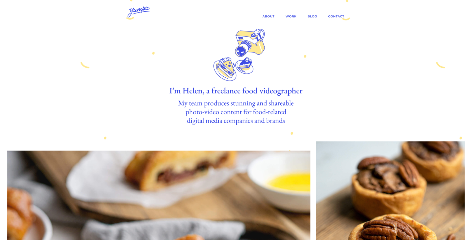 Example of a freelance videographer's website.