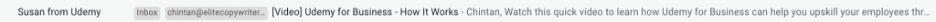 Email subject line from Udemy.