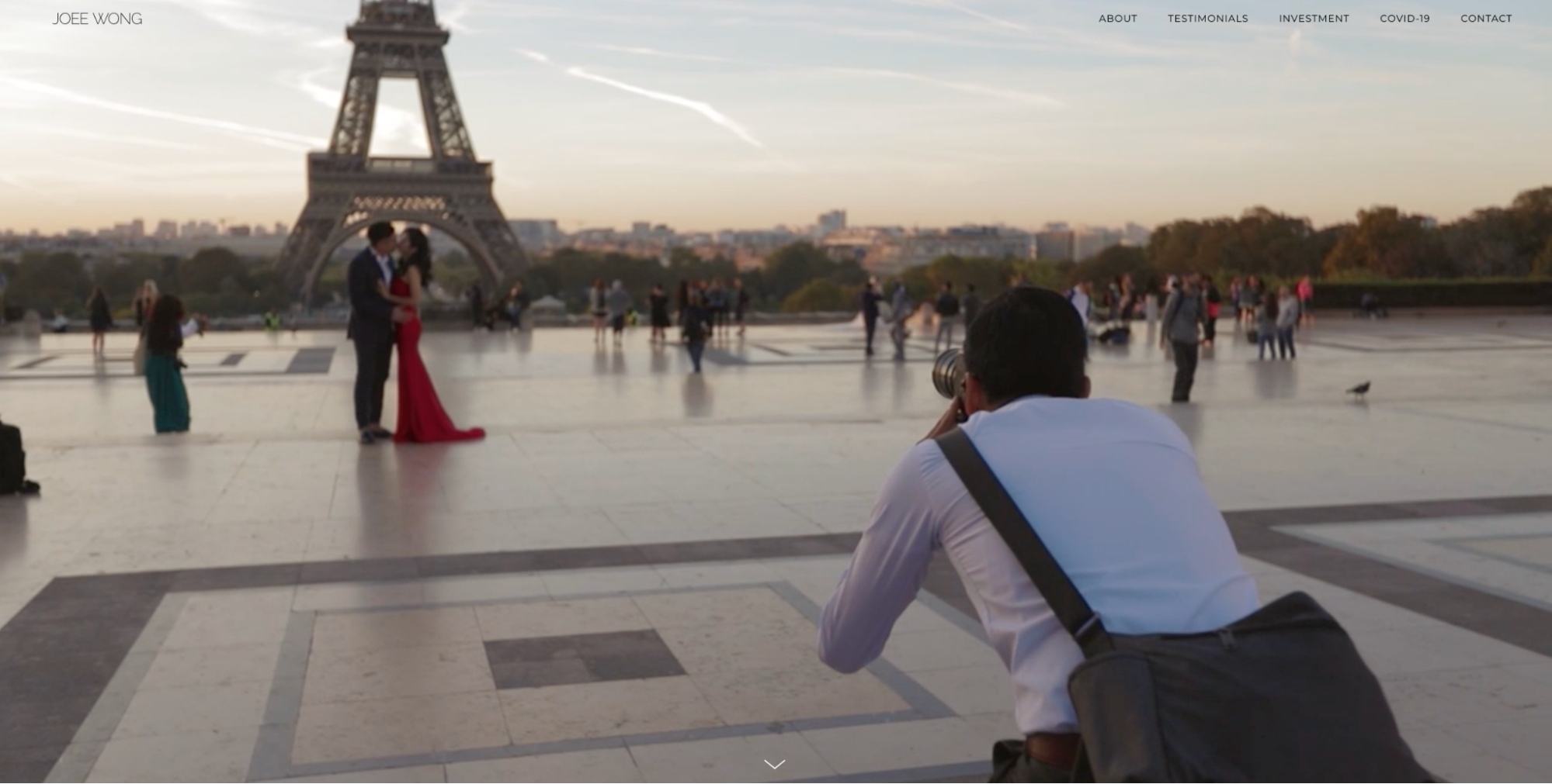 Wedding photography portfolio website.