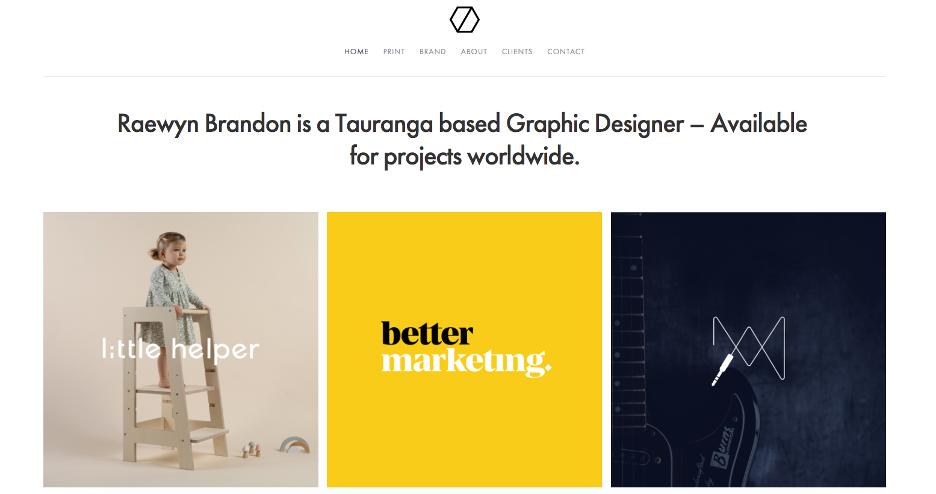 Online graphic design portfolio example.
