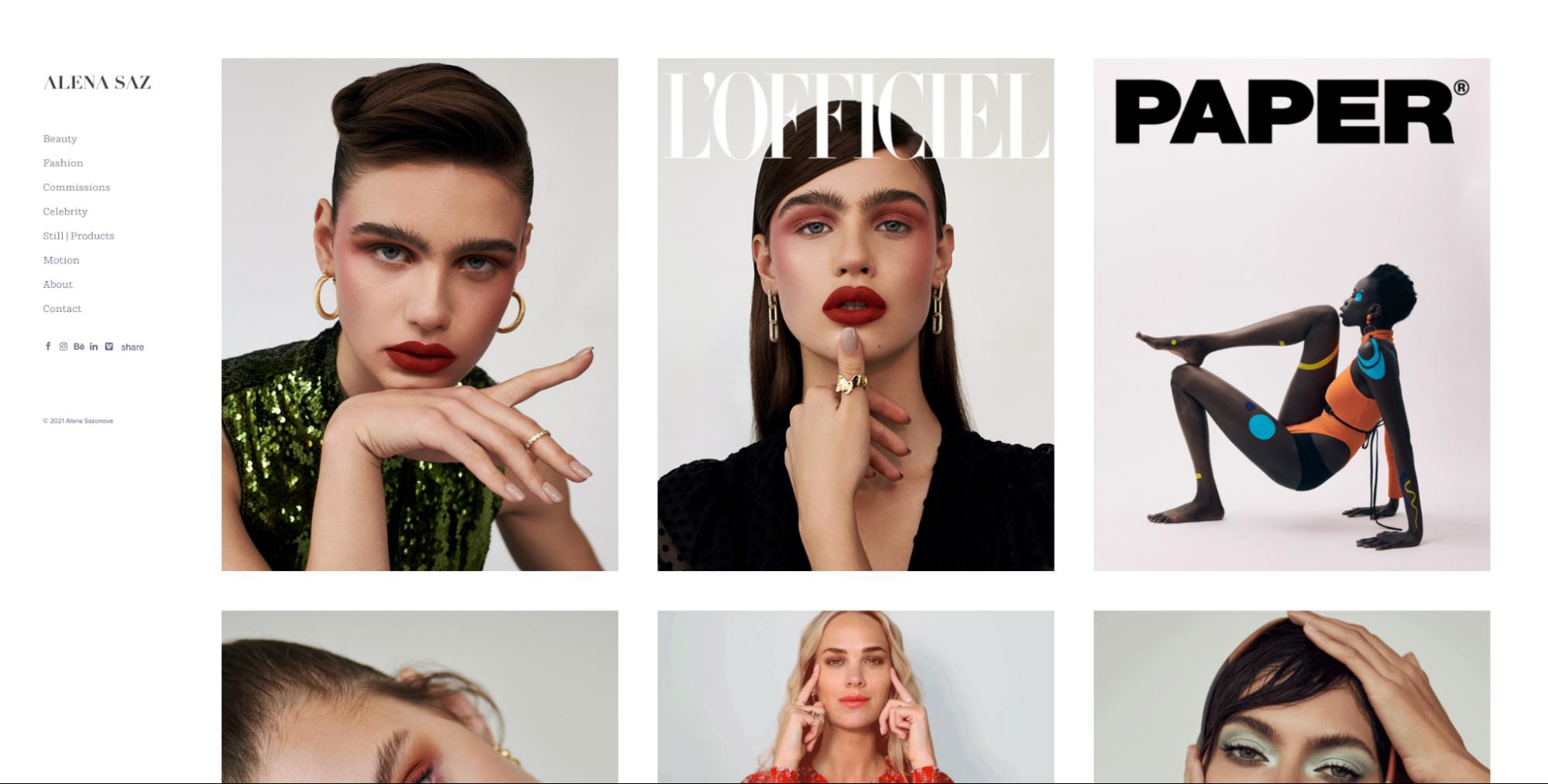 Fashion photography portfolio.