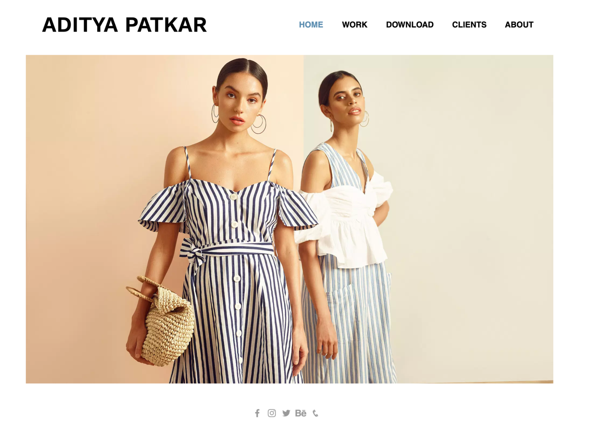 Example of a photography portfolio website.