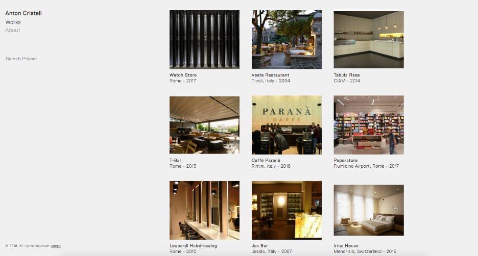 Interior design online portfolio.