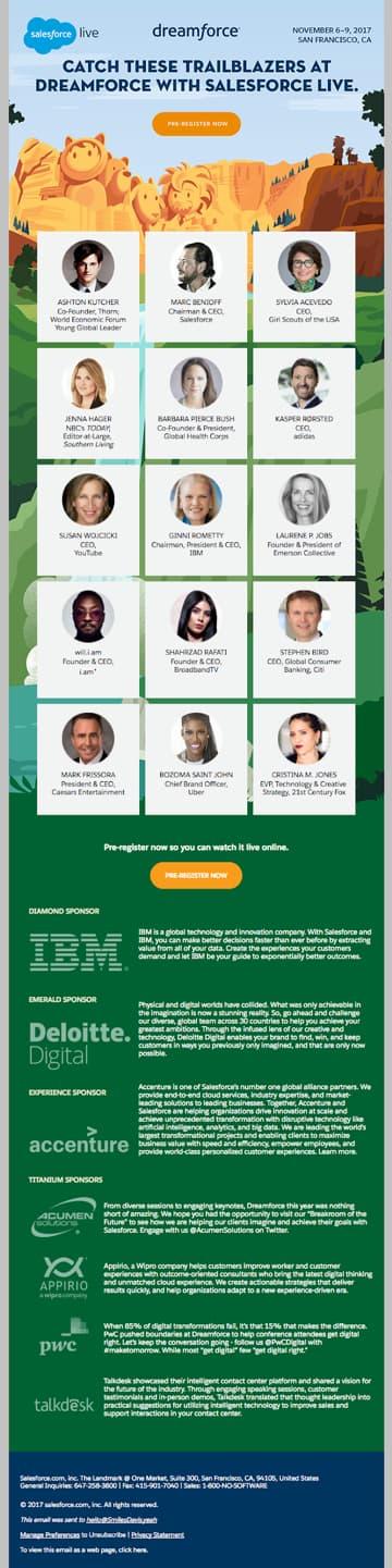 Dreamforce email invite.