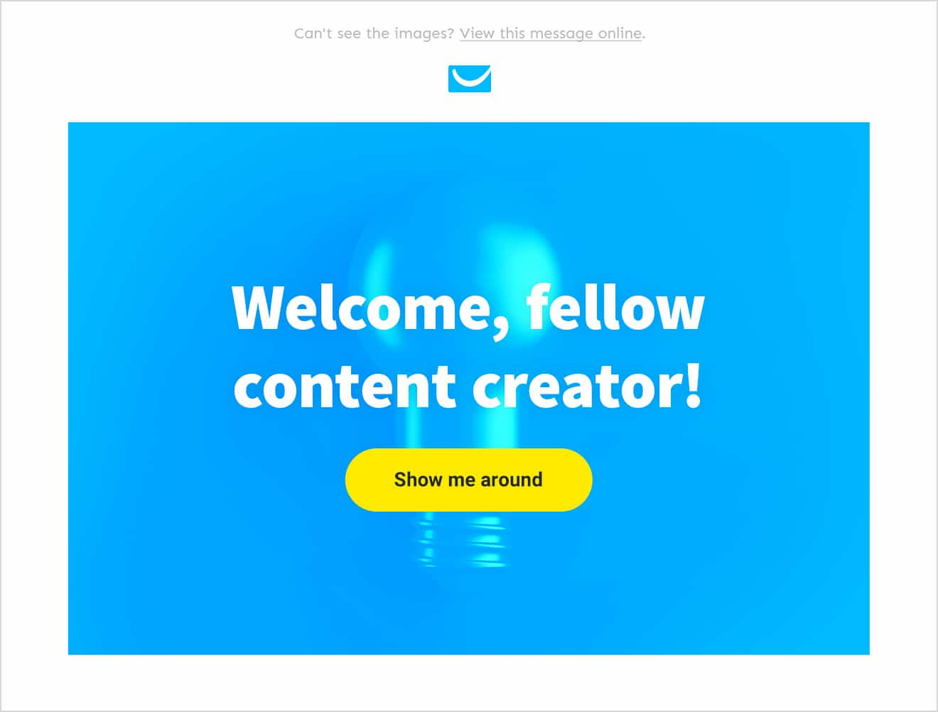 Email template header.