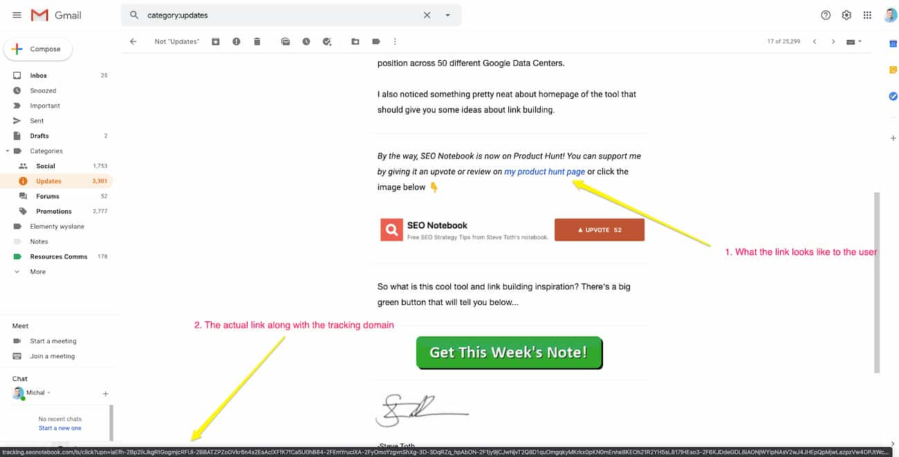 What email tracking looks like and how it works.