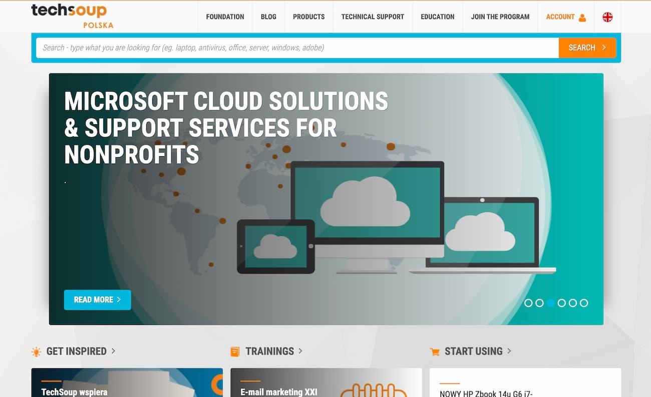 Techsoup Polska website.