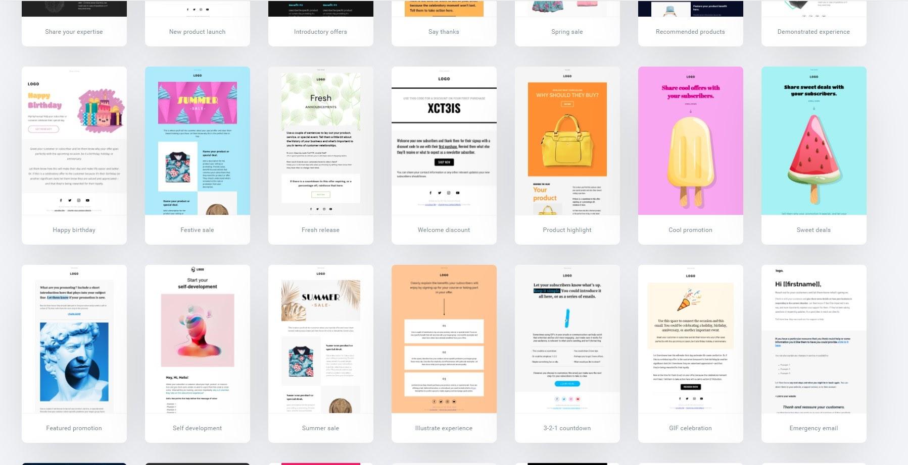 GetResponse templates.