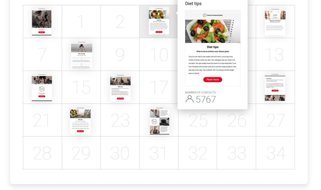 GetResponse autoresponder calendar.