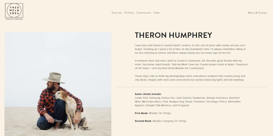 Theron Humphrey about page example.