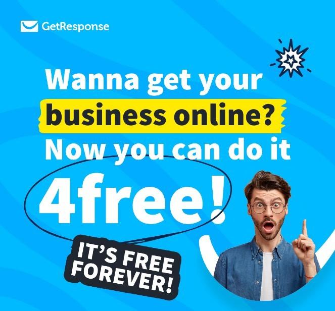 Banner für immer kostenlos GetResponse Free-Plan