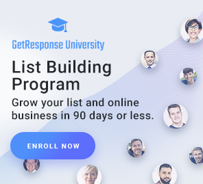 Start growing your list with the GetResponse List Building Program!