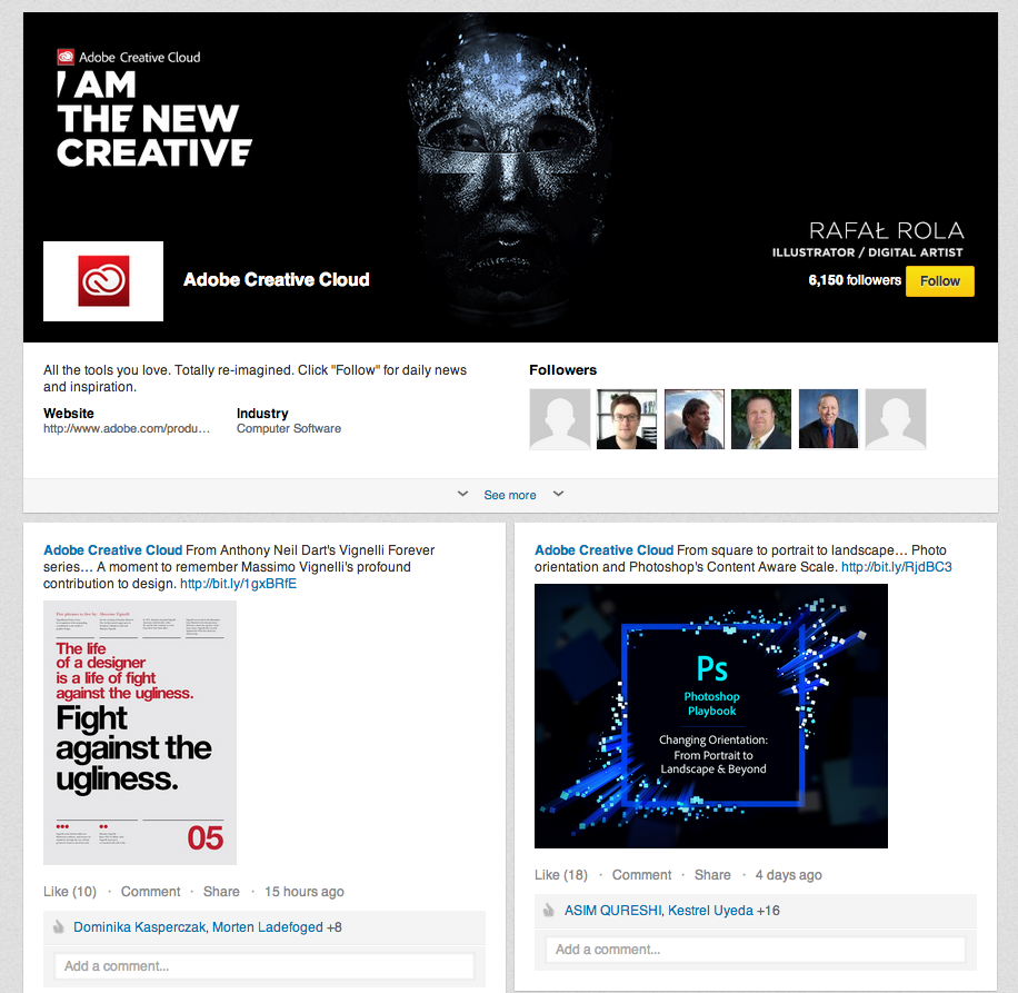 Strona marki Adobe