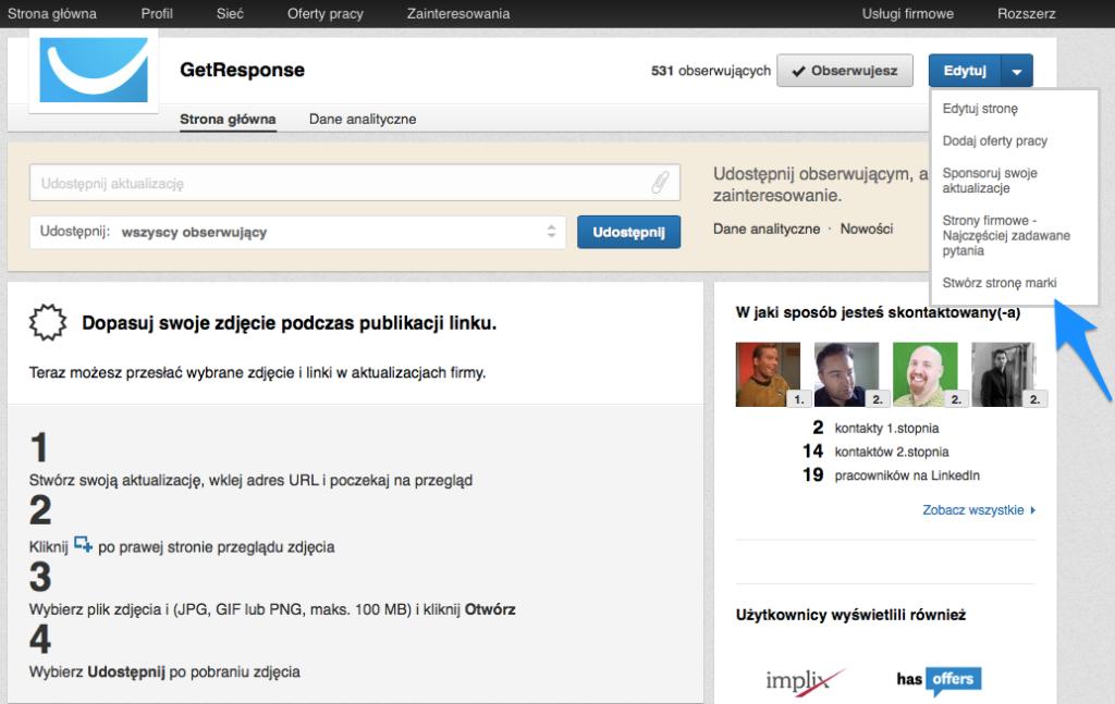 Jak stworzyć stronę marki na LinkedIn
