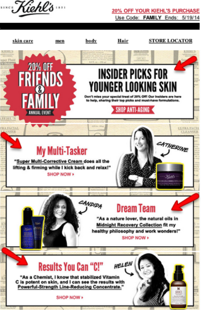 Kiehls newsletter 2
