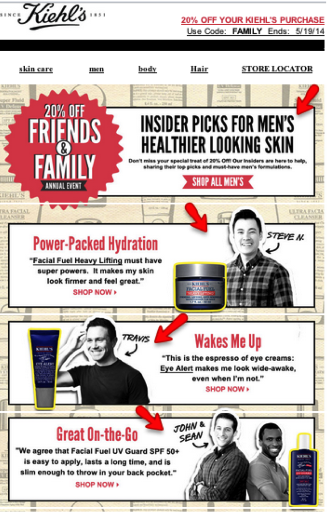 Kiehls newsletter 3