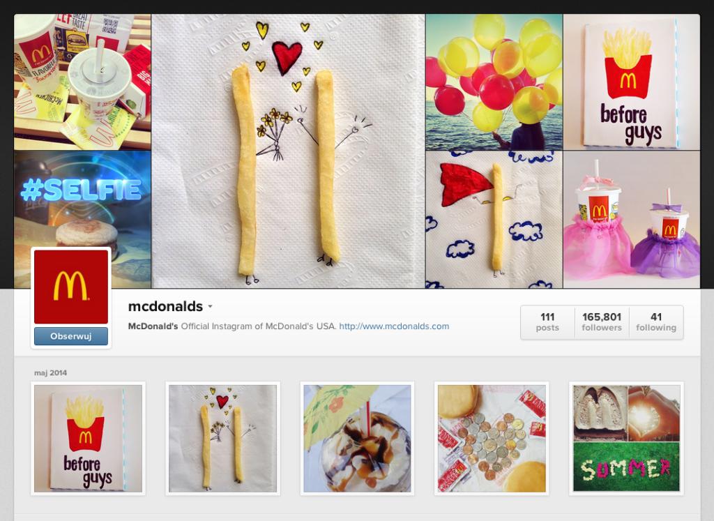 Mc Donalds Instagram