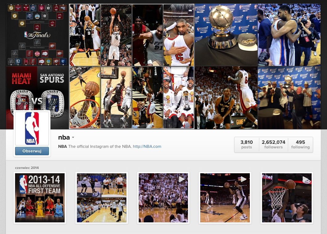 NBA Instagram