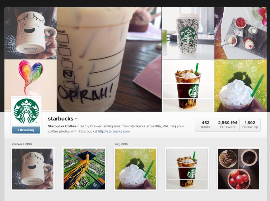 Starbucks Coffee Instagram