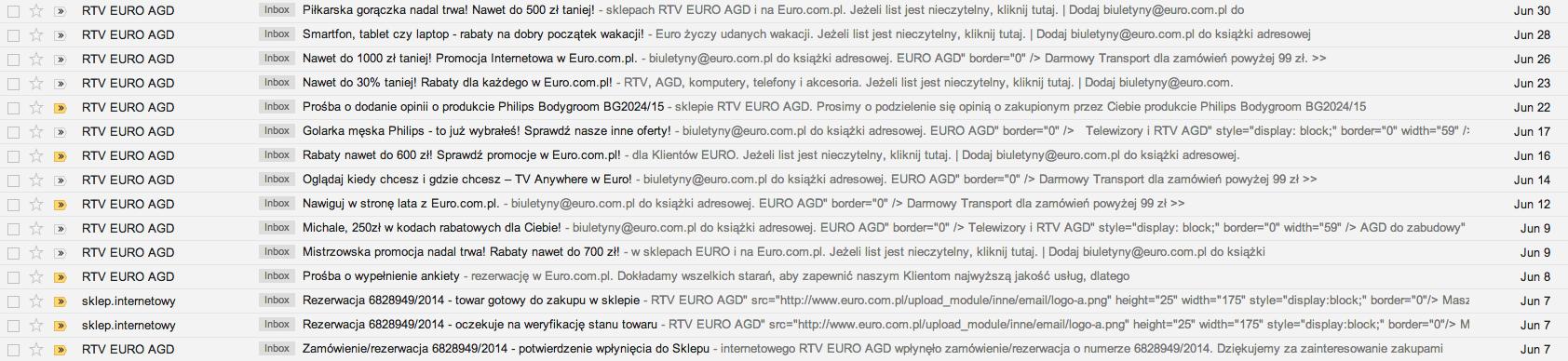 Komunikacja RTV Euro AGD