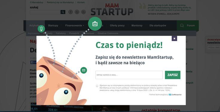 Lightbox na stronie MamStartup