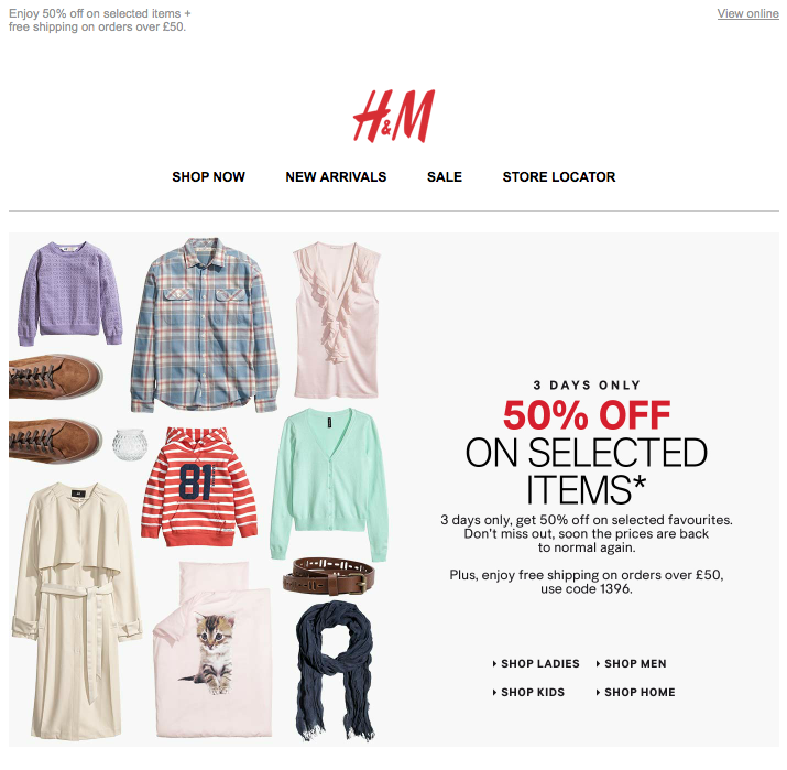 Newsletter H&M