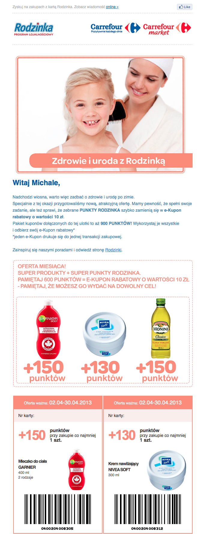 Newsletter Carrefour