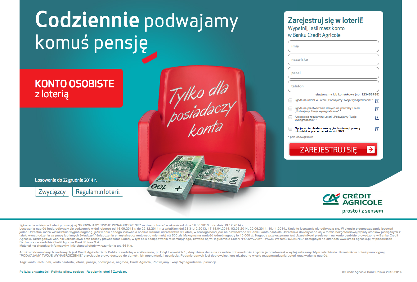 Landing Page Credit Agricole
