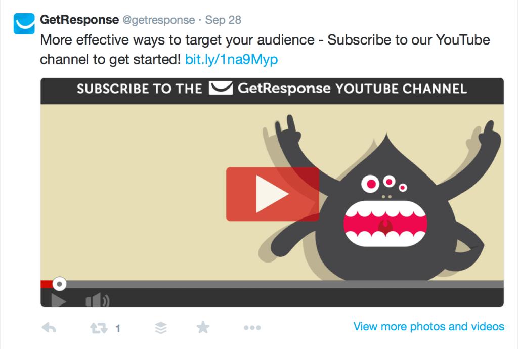 GetResponse Twitter Video