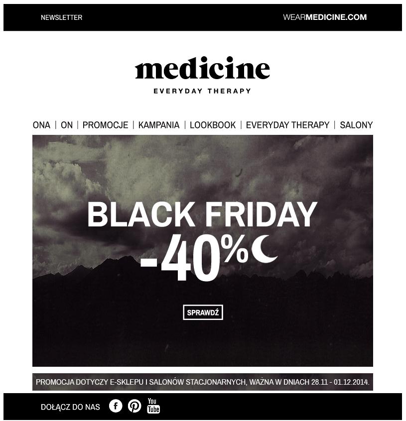 Newsletter Medicine Black Friday