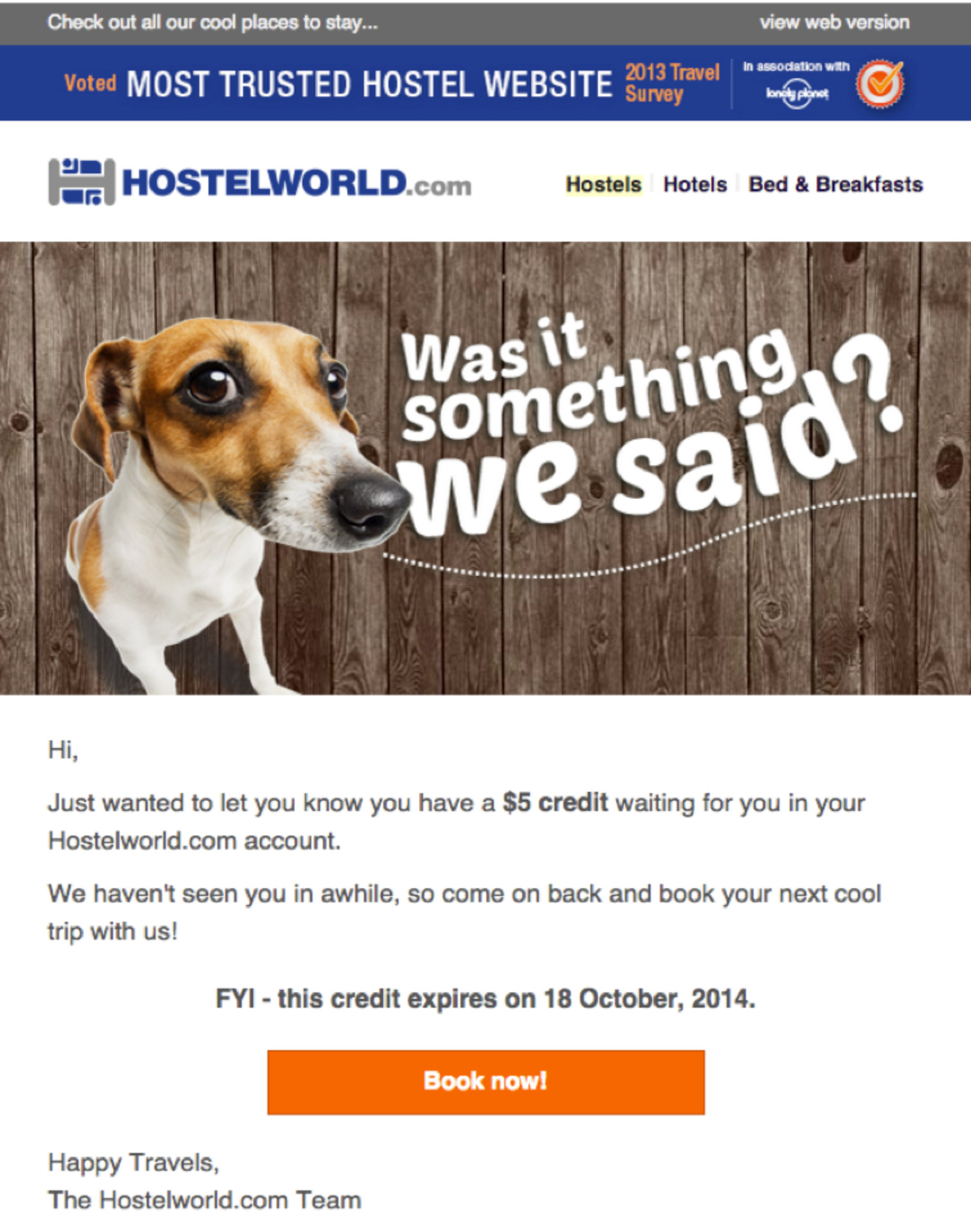 Newsletter Hostelworld