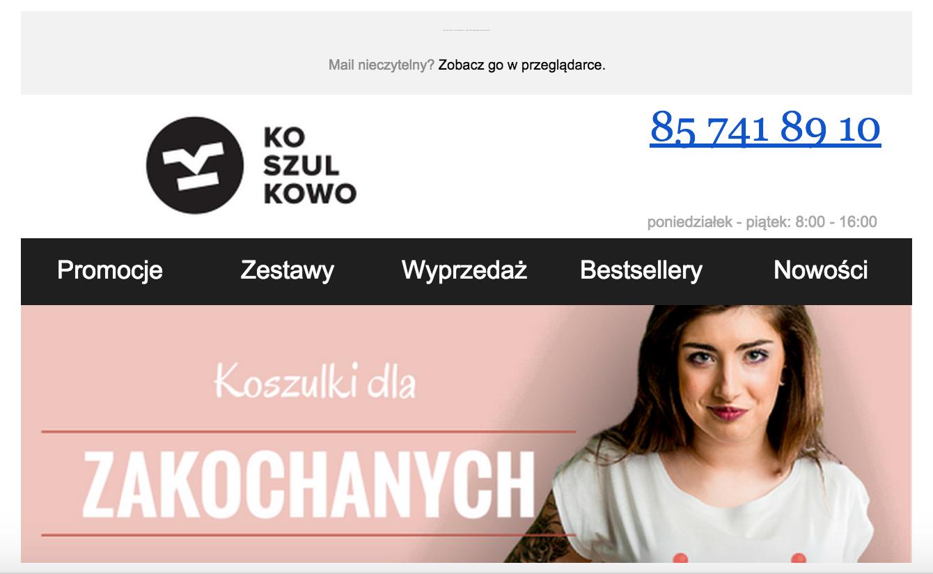Above the fold Koszulkowo