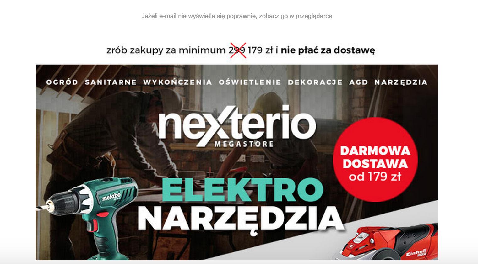 Above the fold Nexterio