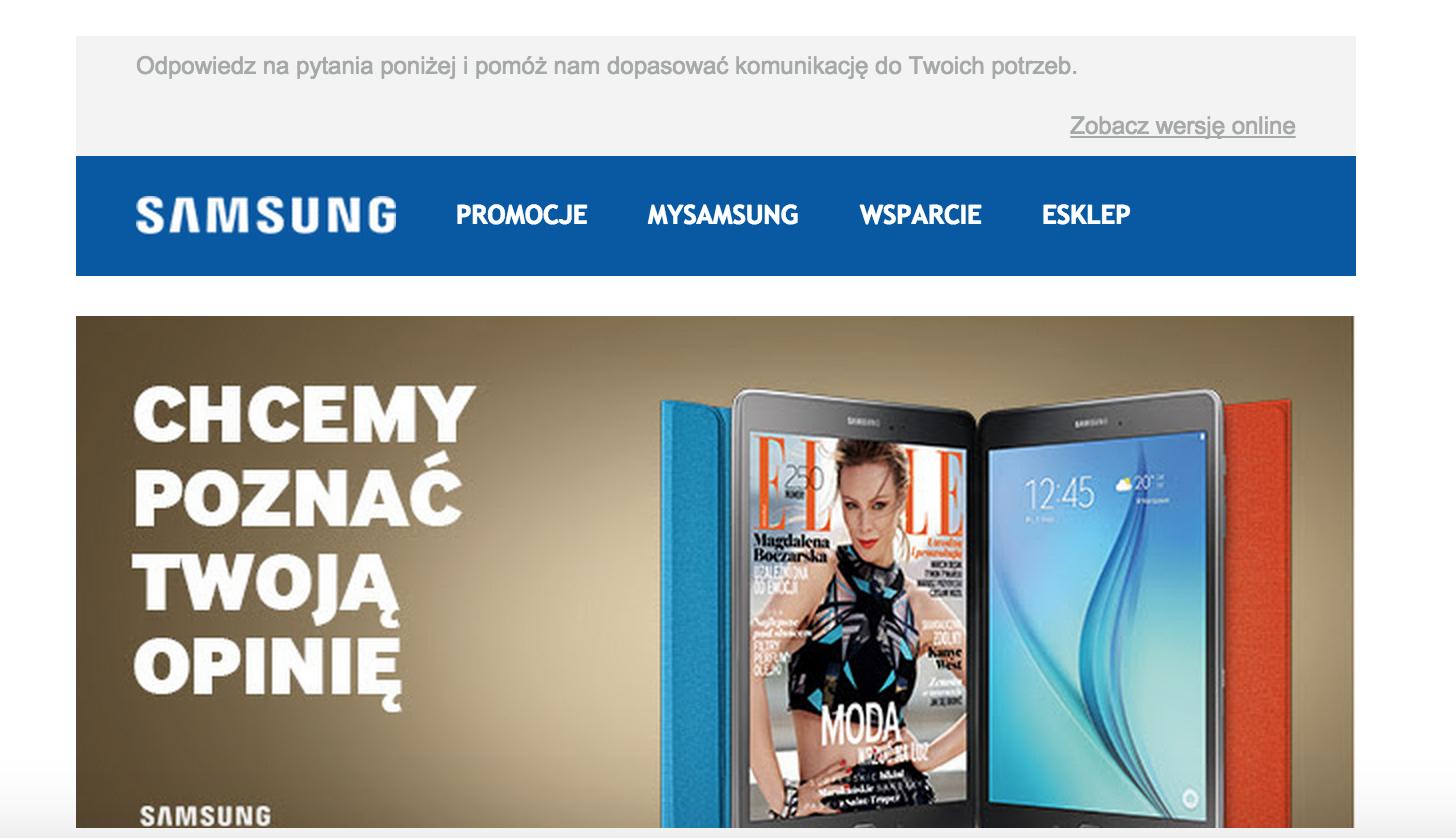 Above the fold Samsung