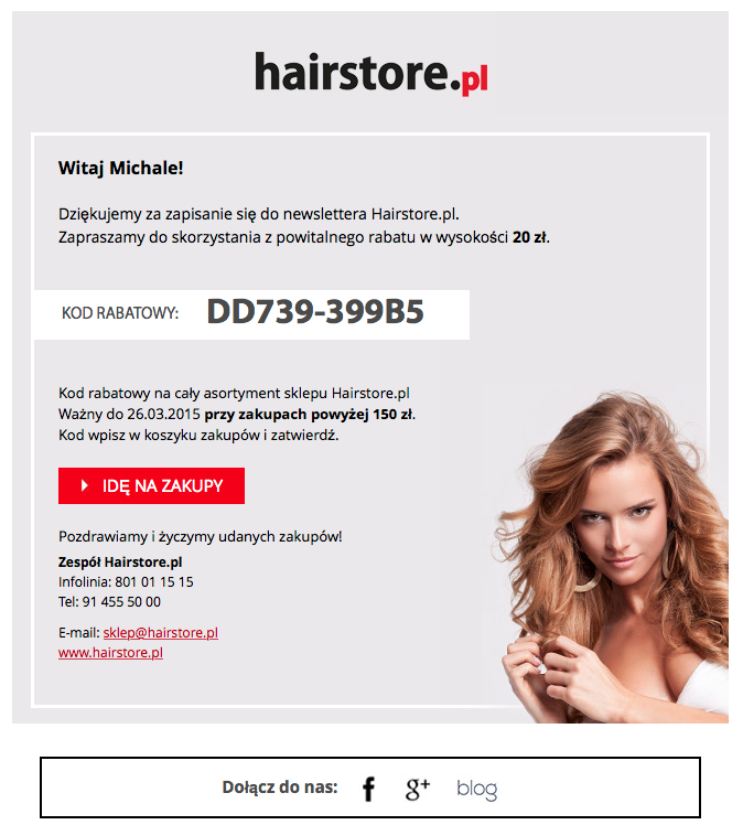 3. Newsletter Hairstore