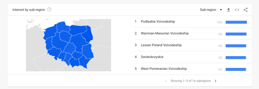google trends mapa
