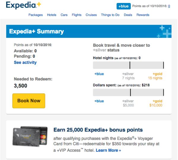 Емейл письмо от Expedia, в котором кампания награждает клиентов за их лояльность