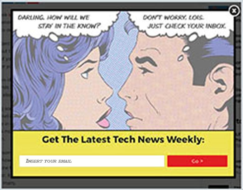 Брошенная корзина рассылка - пример веб-формы от The Next Web, которая отправляет письма клиентам, которые хотят уйти