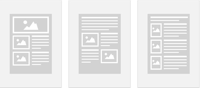 Пустые шаблоны емейл рассылок в платформе ГетРеспонс